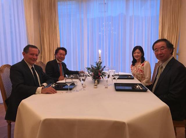 Dîner chez l'Ambassadeur Oe du Japon