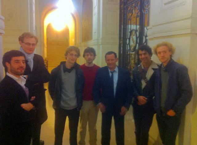 Les jeunes matheux d'X et Normale Sup en Sorbonne