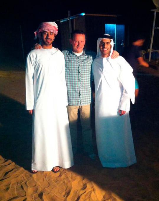 Une nuit dans le désert de Charjah
