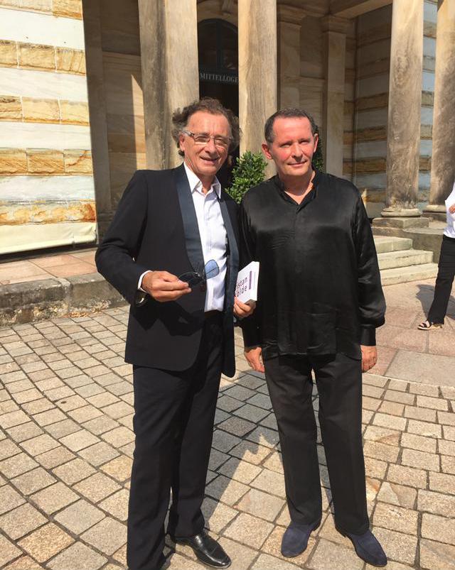 Avec le pianiste François-René Duchable à Bayreuth
